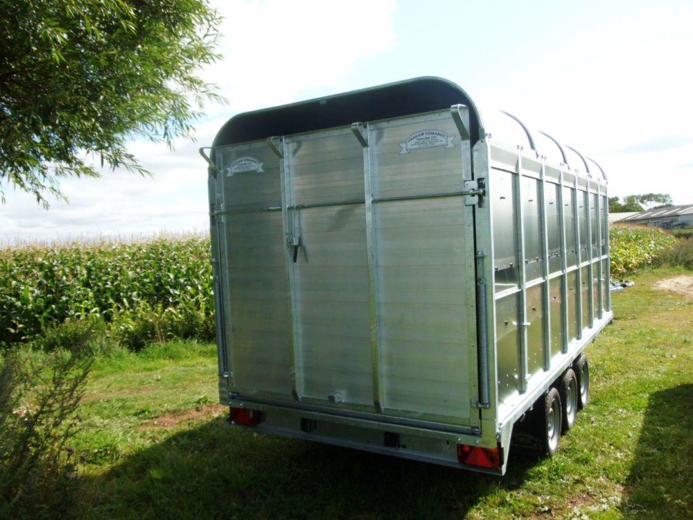 "Demountable Livestock Trailers - 6' 6"" rear"