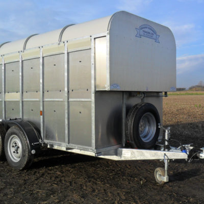 GET126 with Deck Livestock trailer 5ft 8in wide
