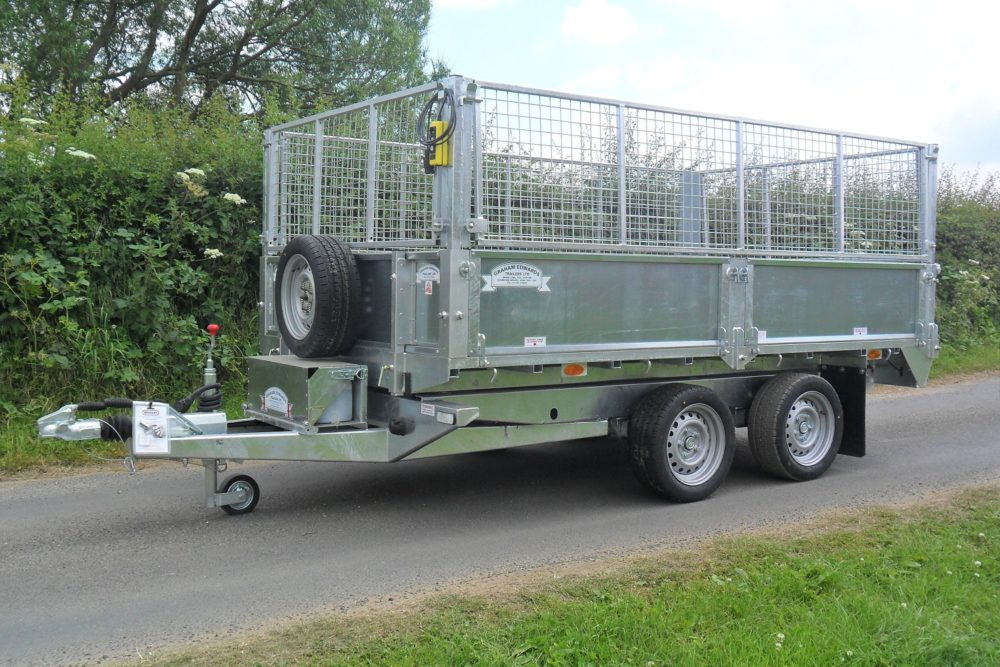 Tipping Trailer - TP105 Tipper with Cage Extensions