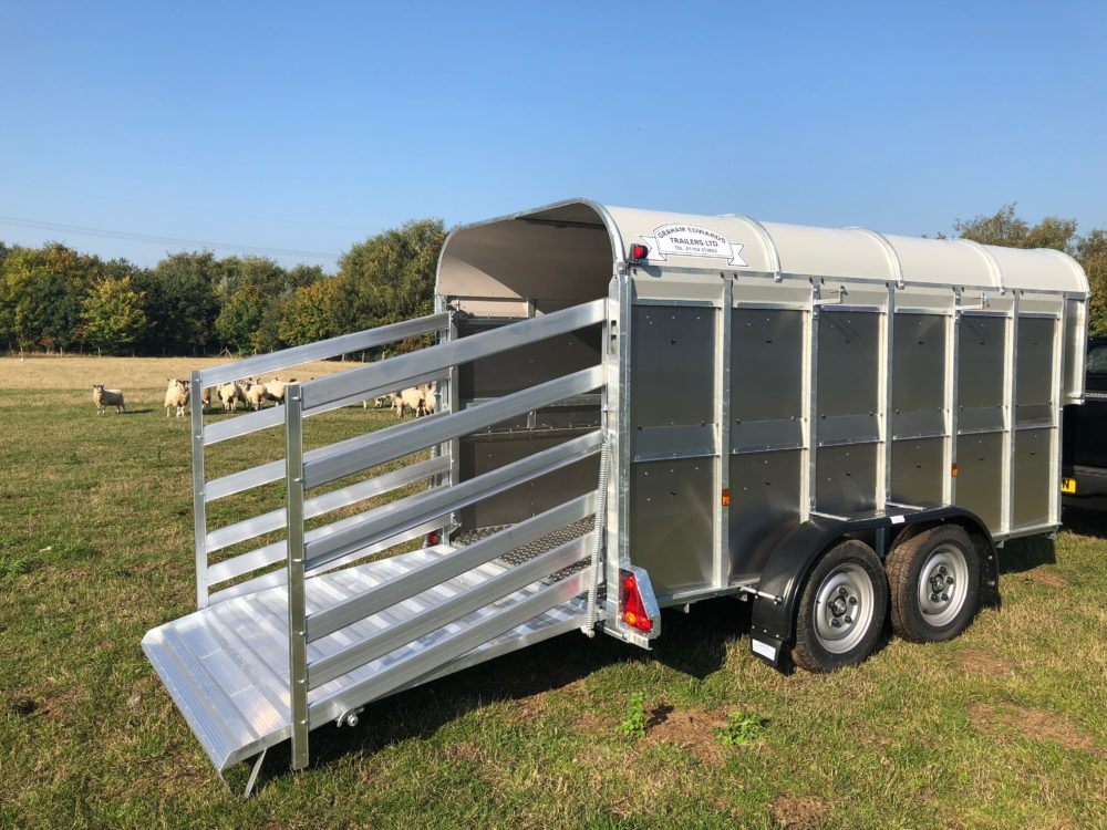 GET126 with Deck Livestock trailer 5ft 8in wide rear with sheep