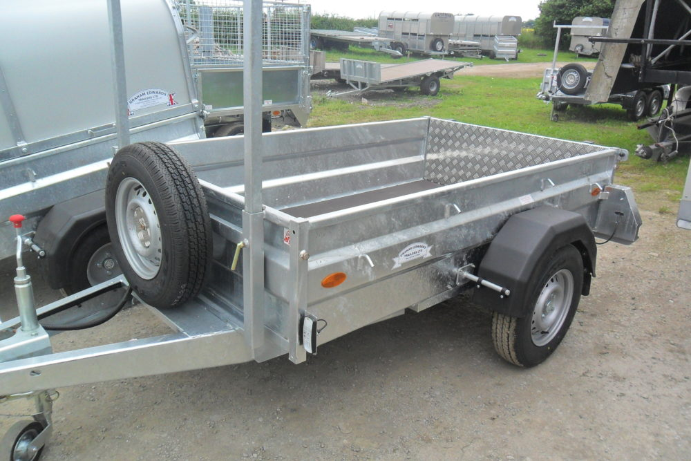 General Purpose Single Axle Braked Ladder Rack