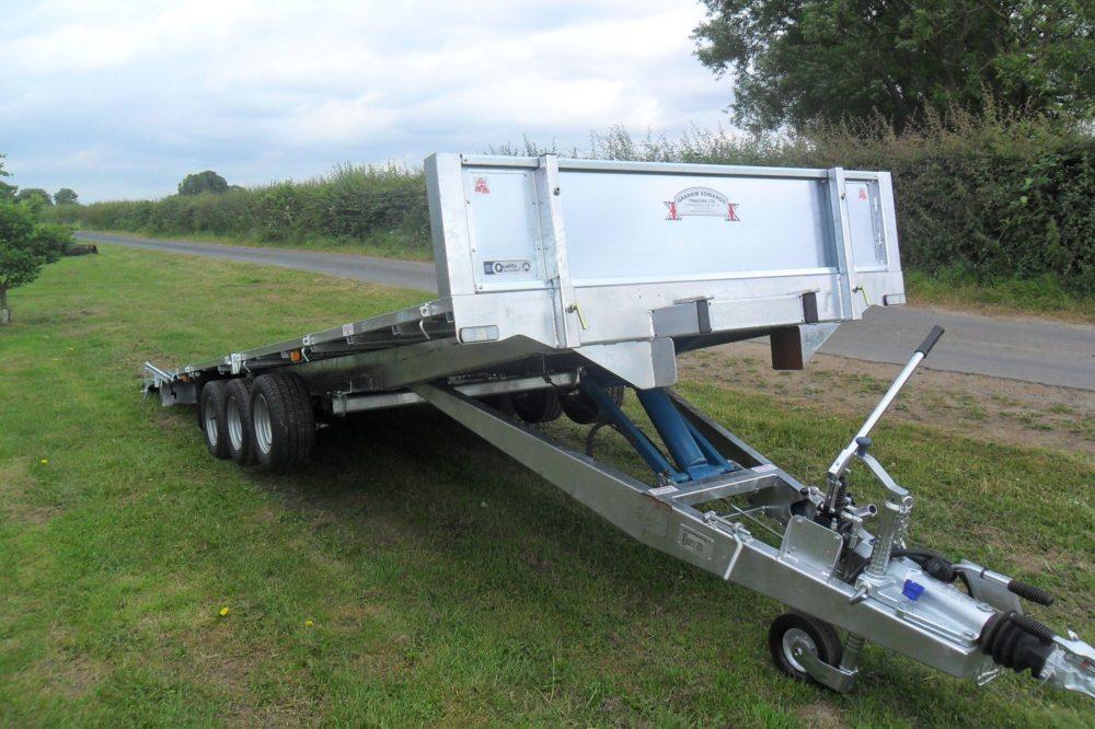 Tri-Axle Flatbed Trailer Tiltbed