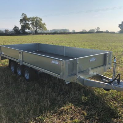 Tri-Axle Flatbed Trailer complete with sides