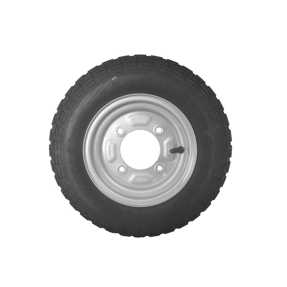 "Wheel & Tyre 350 x 8"" 4 Stud PCD 115mm"