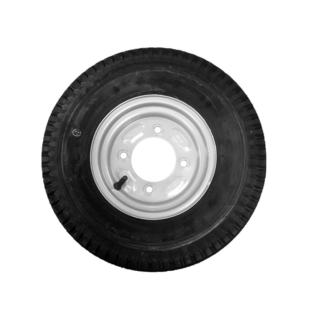 "Wheel & Tyre 400 x 8"" 4 Stud PCD 115mm"