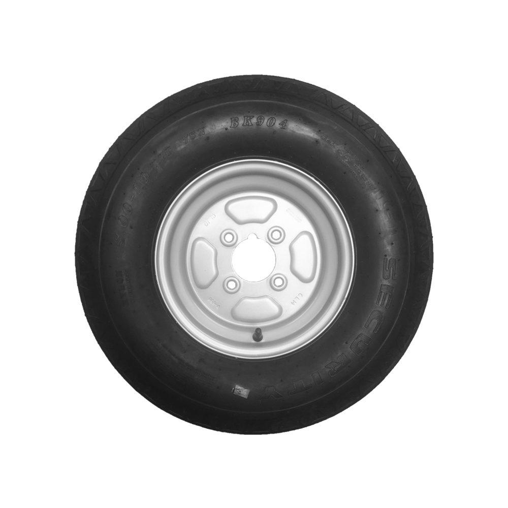 Wheel & Tyre 500x10 inch 4 Stud PCD 4inch