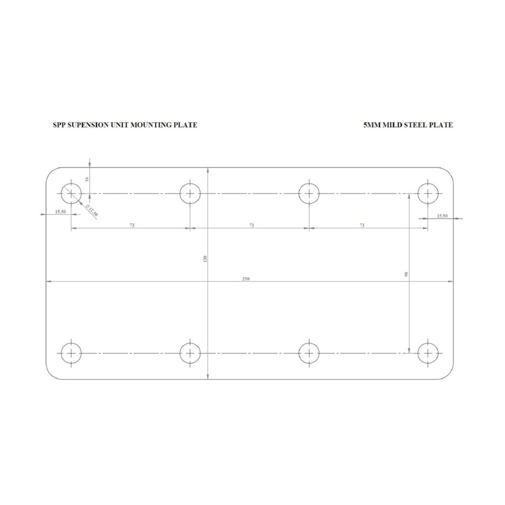 8 Hole Suspension Plate Drawing