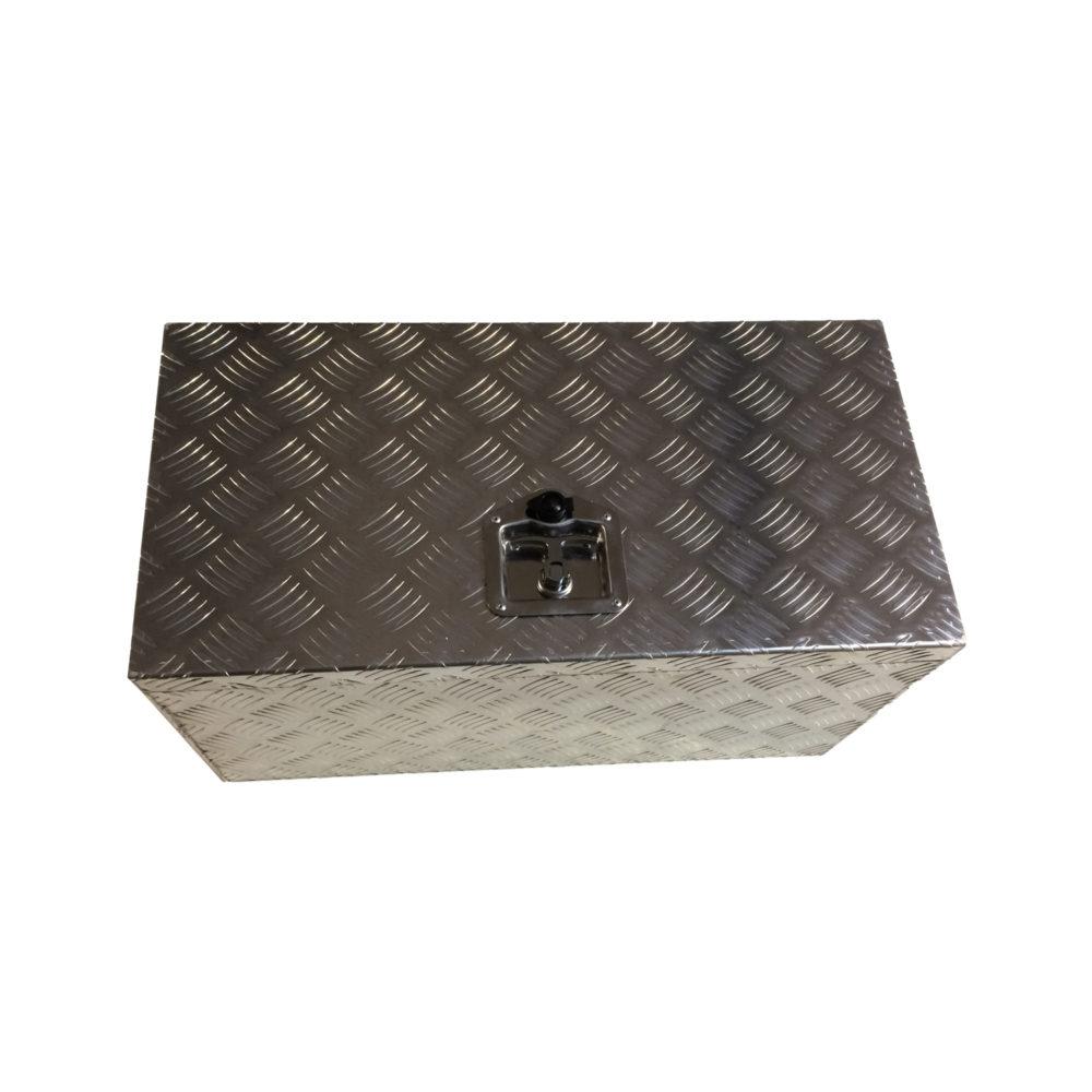 Aluminium Chequer Plate Toolbox 28x14x14 10316