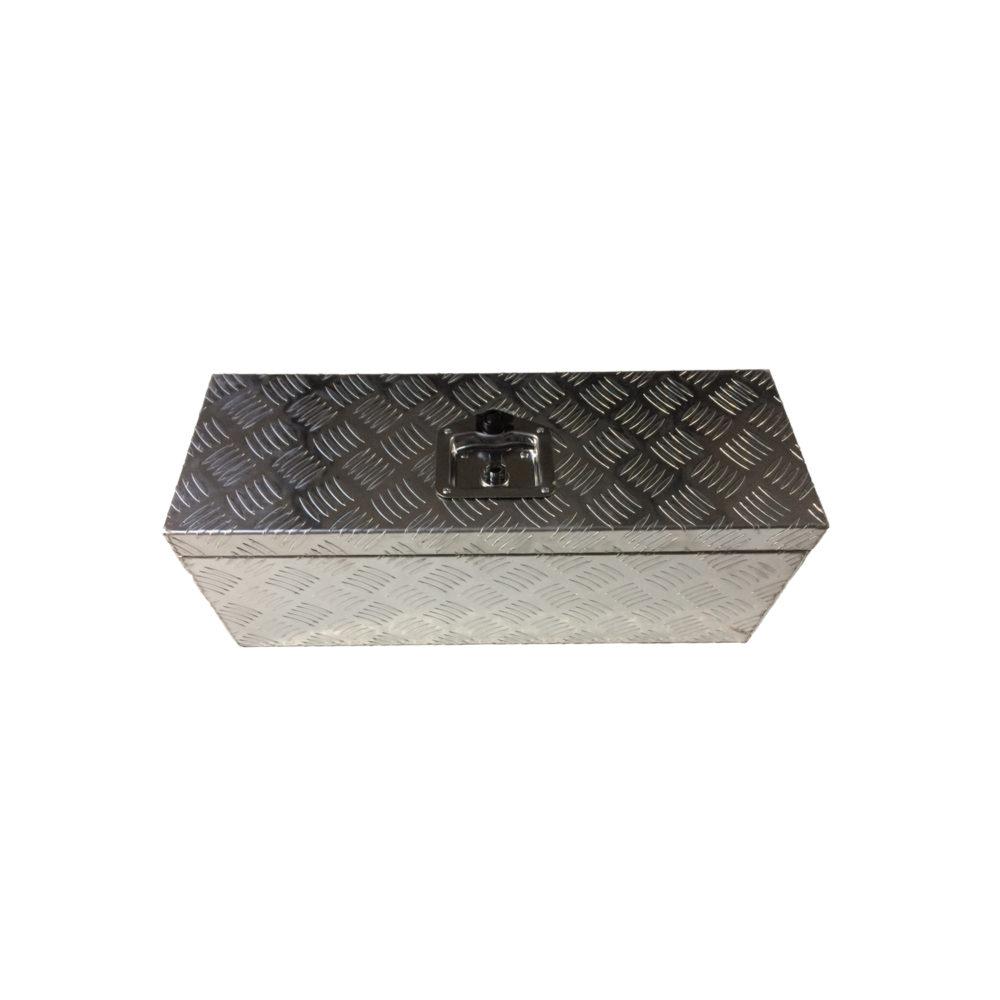 Aluminium Chequer Plate Toolbox 26x9x9 10532