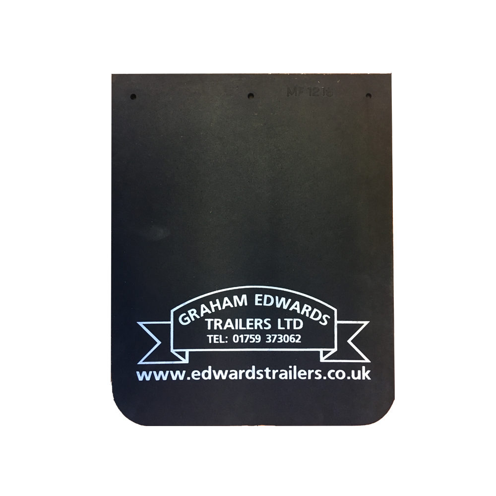 Pair of Graham Edwards Trailers Mudflaps 12inch x 15inch