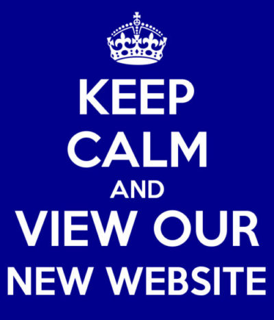Keep calm and view our new website