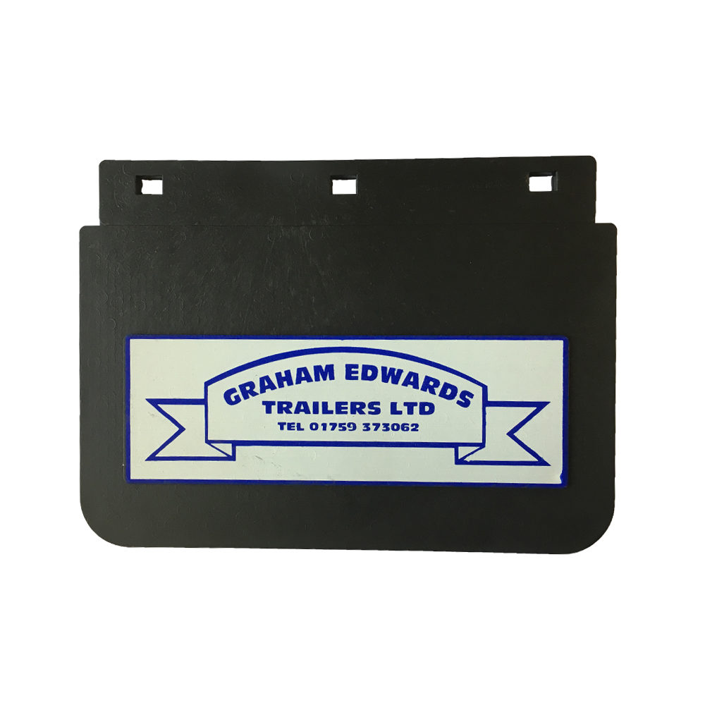 Pair of Graham Edwards Trailers Mudflaps 205mm x 150mm