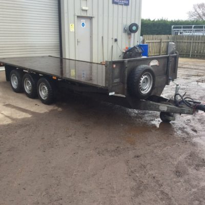 FB3516T flatbed trailer Front