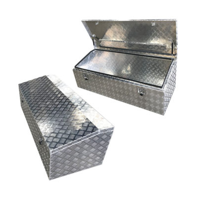 Aluminium Chequer Plate Chest