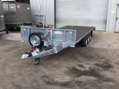 18ft flatbed trailers in stock