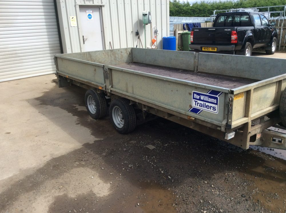 Ifor Williams Flatbed Trailer 14ft x 6ft6inch - 2010 Side