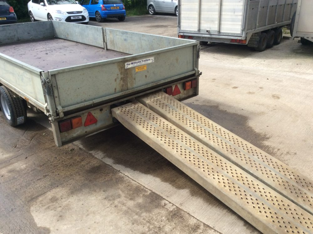 Ifor Williams Flatbed Trailer 14ft x 6ft6inch - 2010 Rear Ramps