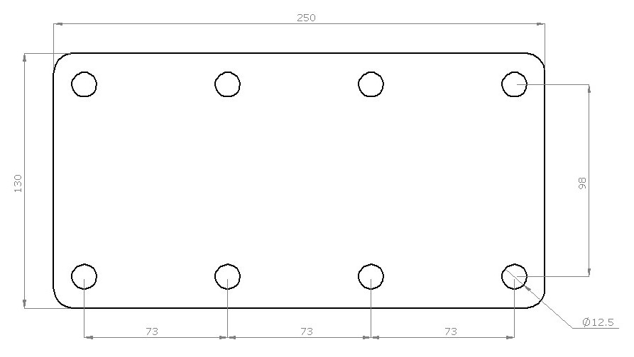 Custom Unbraked Trailer Axle Beam Plate Dimensions