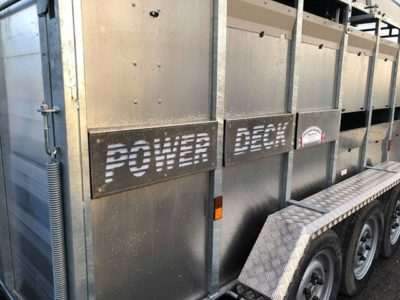 Powerdeck trailer signage Livestock trailer accessories