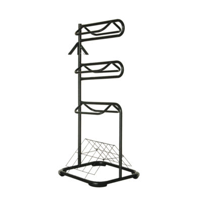 Saddle Rack 3 Tier Stand C/W Bridal Hooks & Vented Blanket Stand