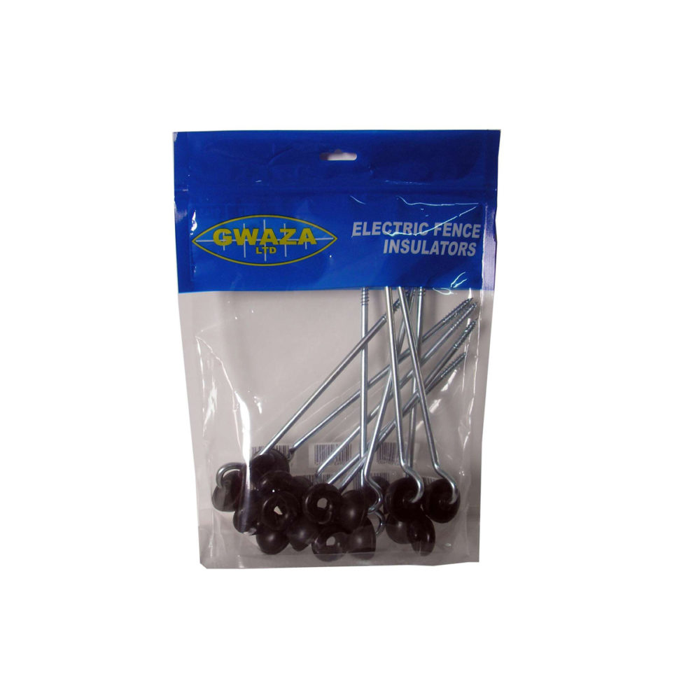 Extended Screw Ring Insulator Electric Fencing - Pack of 10