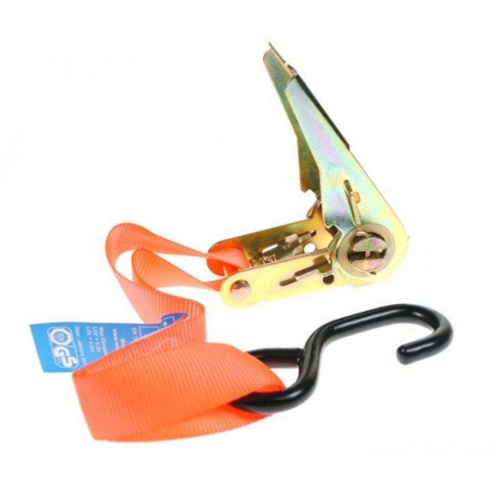 "1"" ratchet strap in orange highvis"