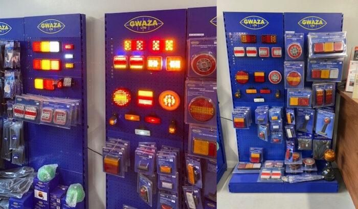 LED light shop stand for display of lights